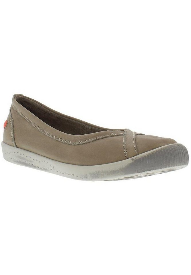 softinos Ballerina »Ilma smooth leather SS17« in taupe