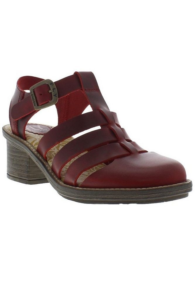 FLY LONDON Sommerpumps »CELO511FLY bridle« in rot