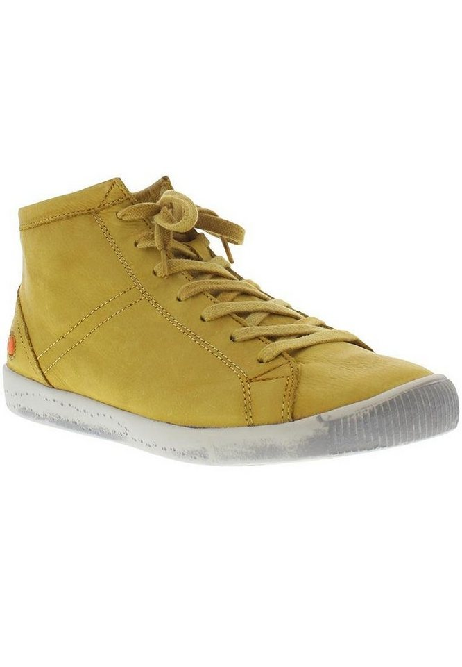 softinos Sneaker high »Isleen washed leather SS17« in gelb