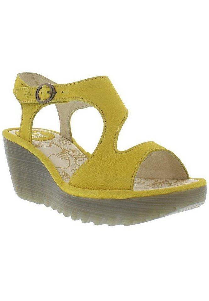 FLY LONDON Keilsandalette »Yanca cupido SS17« in gelb