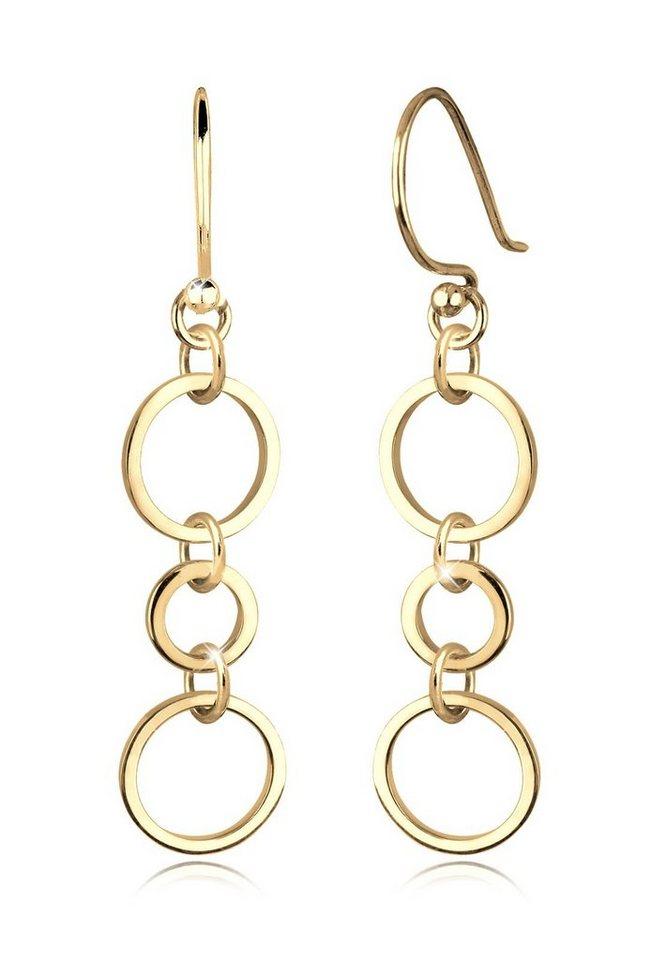 Goldhimmel Ohrringe »Ringe Kreise Geo Elegant Filigran Silber vergoldet« in Gold