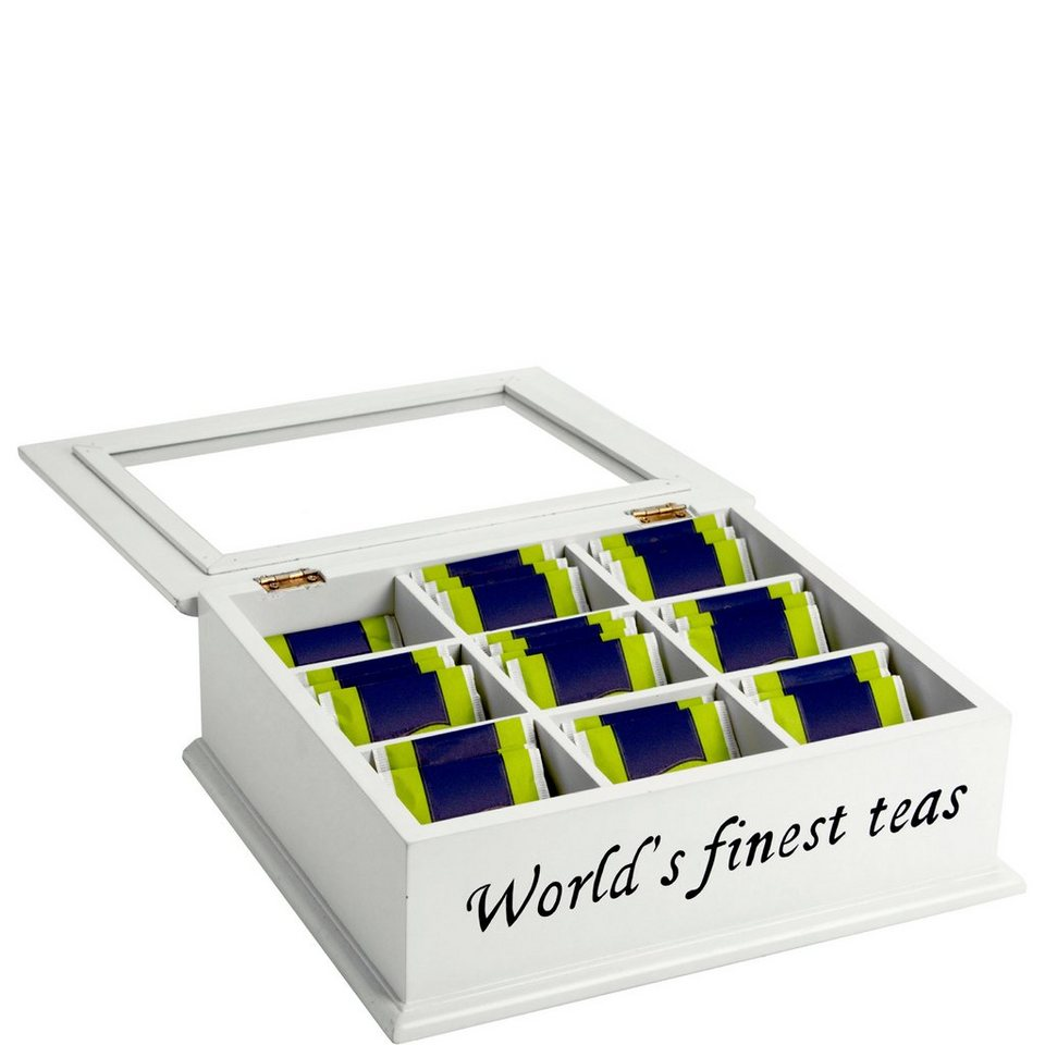 BUTLERS CAMPAGNE »Teedose ''The World's finest tea''« in weiss