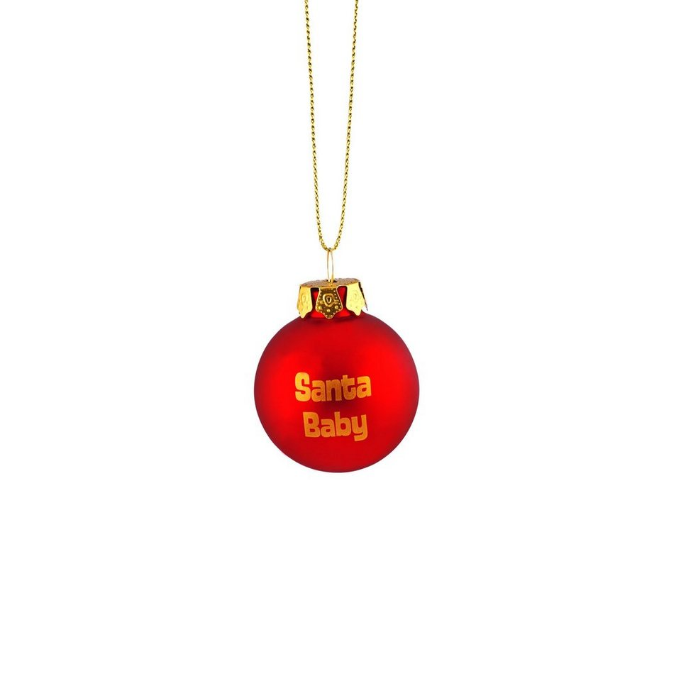 BUTLERS HANG ON »Glaskugel 'Santa Baby'« in rot-gold