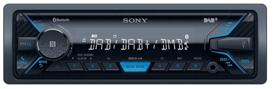 Sony 1-DIN Autoradio mit DAB+ & Bluetooth® »DSX-A500BD« in schwarz