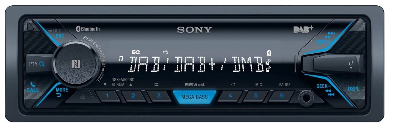 Sony 1-DIN Autoradio mit DAB+ & Bluetooth® »DSX-A500BD«