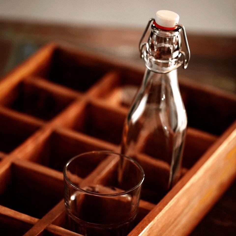 BUTLERS SWING »Glasflasche mit Bügelverschluss« in Transparent