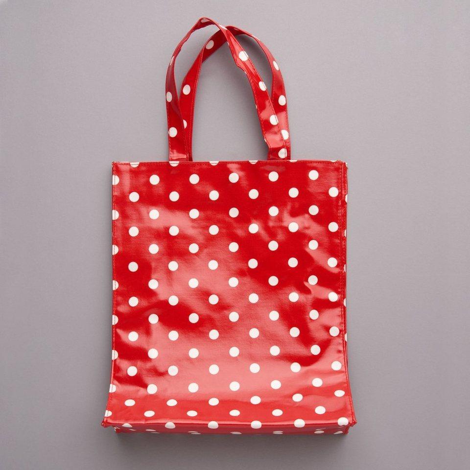 BUTLERS PRETTY COAT »Einkaufstasche« in rot-weiss