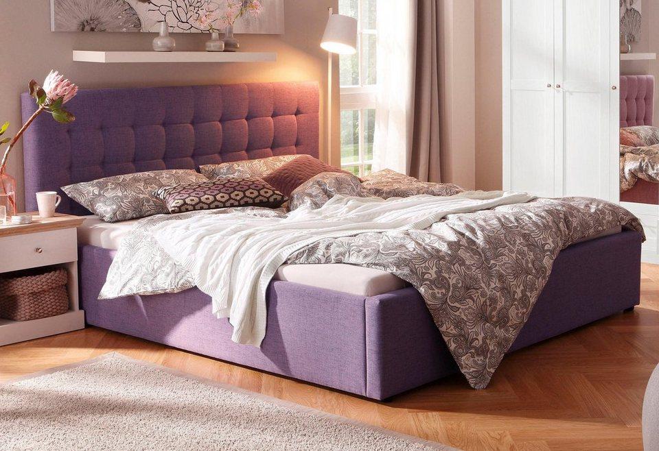 Home affaire Polsterbett »Hamar« mit Knopfheftung, in 3 Größen und 2 Farben in flieder