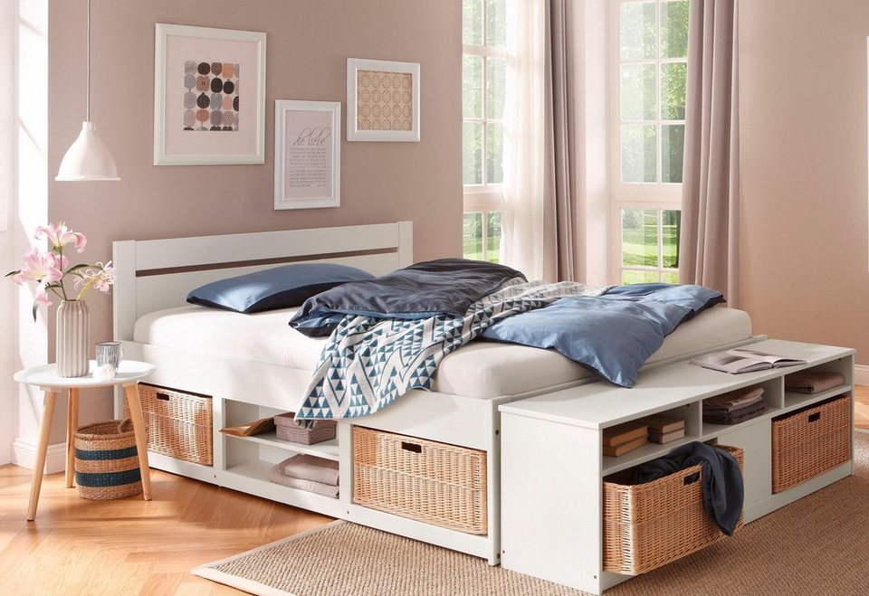 home affaire bett stauraumbett levi in 3 breiten k rbe optional online kaufen otto. Black Bedroom Furniture Sets. Home Design Ideas