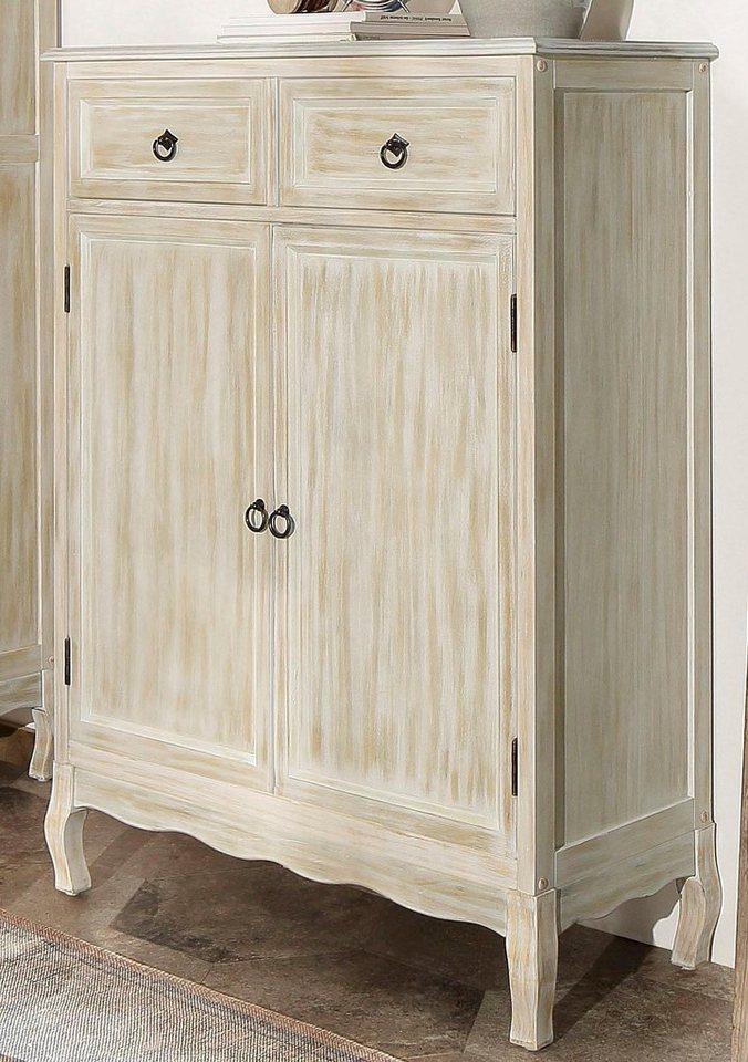 Home affaire Kommode »Pienza« mit 2 Türen und 2 Schubladen, Breite: 85 cm in weiß-natur