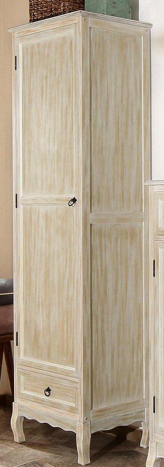 Home affaire Garderobenschrank »Pienza«, 55 cm breit in weiß-natur
