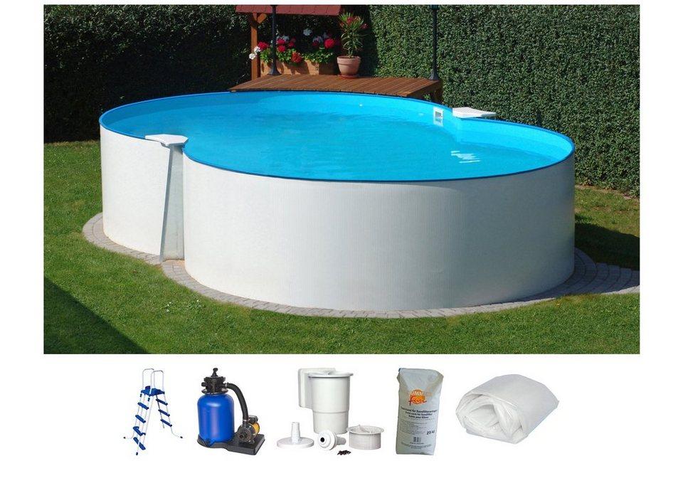 Summer Fun Set: Achtformpool »Standard«, B/L/H: 300/470/90 cm, 6-tlg. in weiß