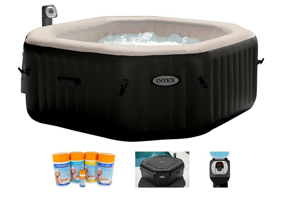 intex set whirlpool pure spa 79 octagon h 201 71 cm online kaufen otto. Black Bedroom Furniture Sets. Home Design Ideas