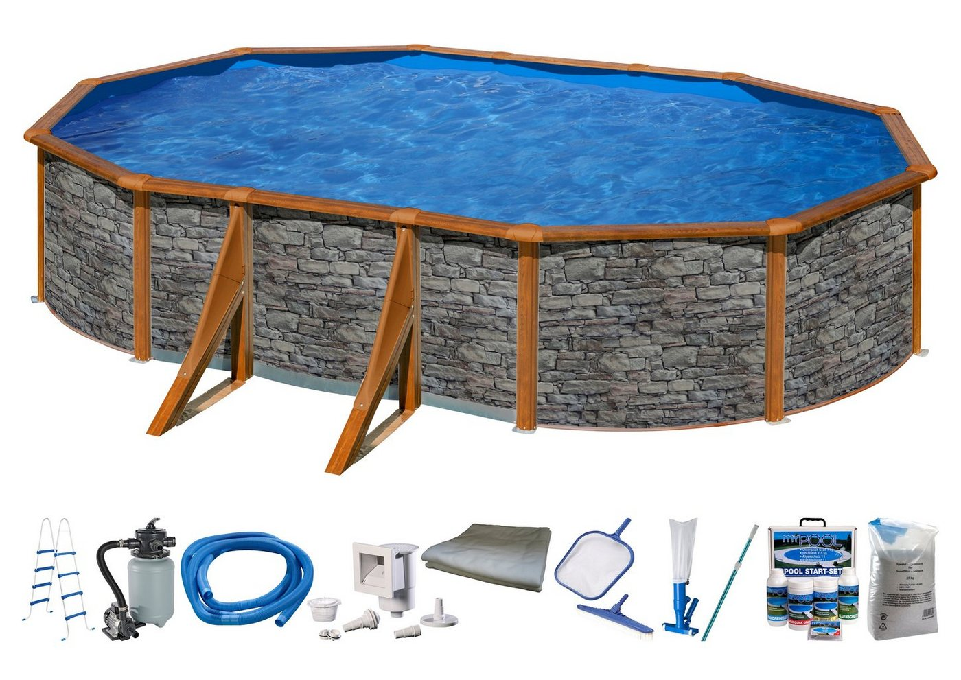 Pool steinoptik machen sie den preisvergleich bei nextag for Stahlwandpool steinoptik