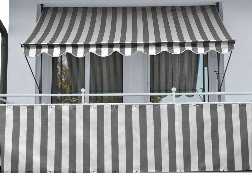 balkonsichtschutz polyethylen anthrazit in 2 hohen
