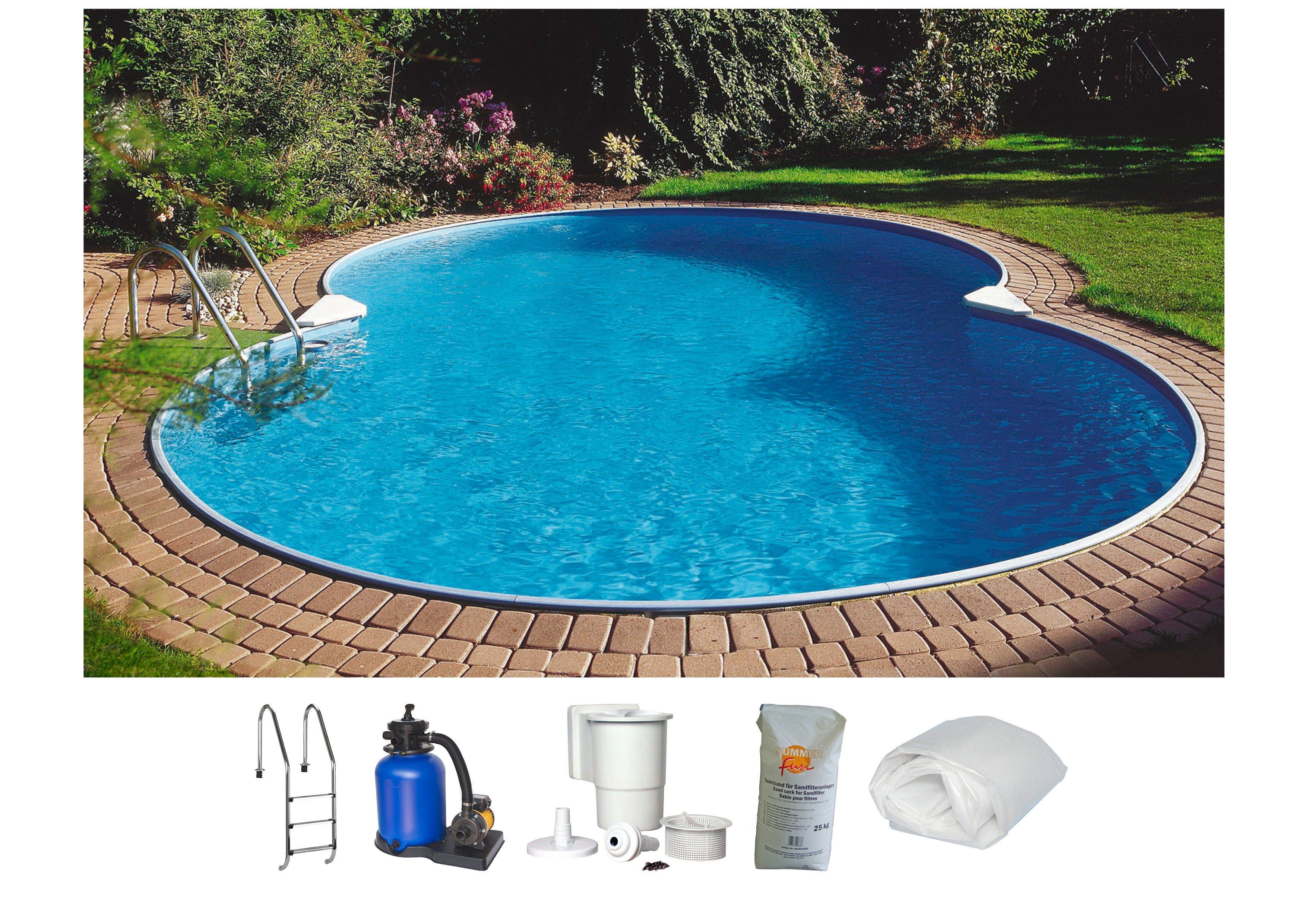Summer Fun Set: Achtformpool »Standard«, B/L/H: 300/470/120 cm, 6-tlg.