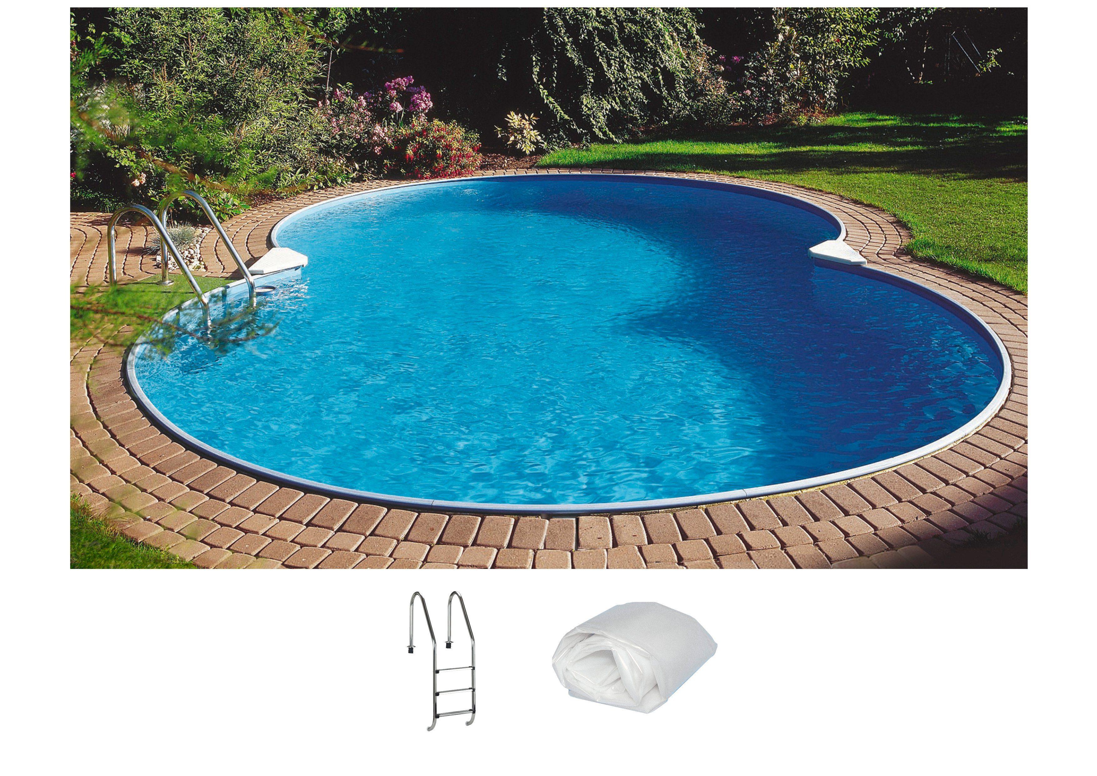 Summer Fun Set: Achtformpool »Standard«, B/L/H: 350/540/120 cm, 3-tlg.