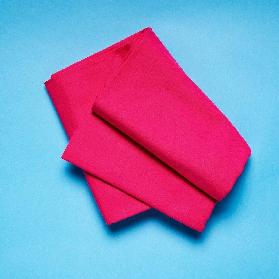BUTLERS SOLID »Tischdecke 140x140 cm« in pink