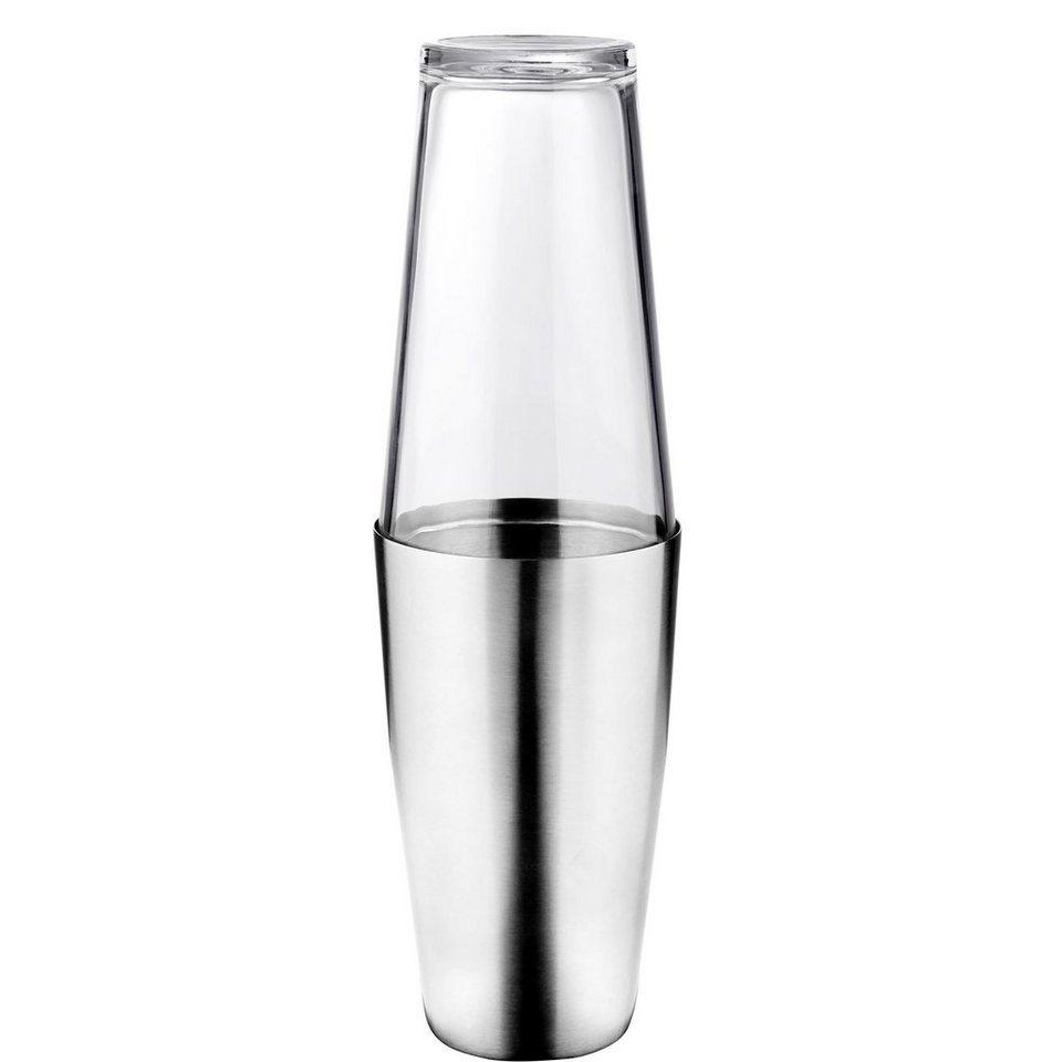 BUTLERS COSMOPOLITAN »Cocktailshaker mit Glas« in Silber