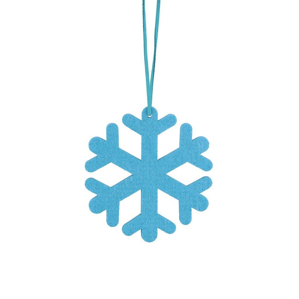 BUTLERS HANG ON »Filzanhänger Schneeflocke« in blau