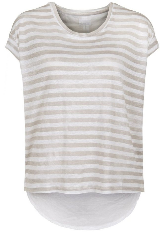 Blaumax Shirt »BERLIN STRIPE LINEN« in beige stripe