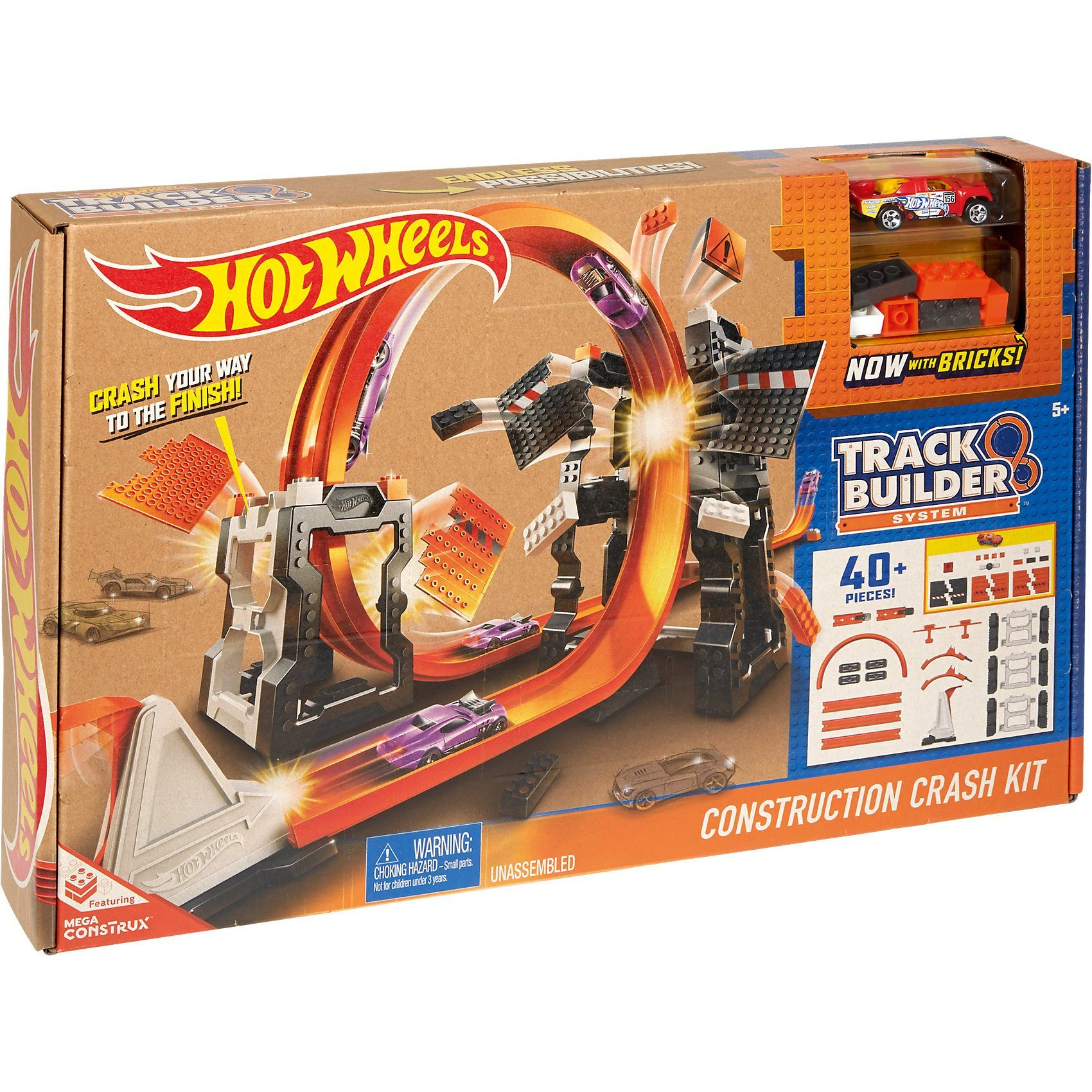Mattel® Hot Wheels Track Builder Mega Crashset