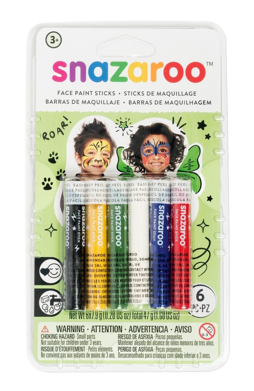 snazaroo Schminkstifte 6er-Set für Kinder