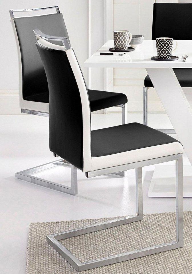 Freischwinger (2 Stück) in Schwarz/weiß