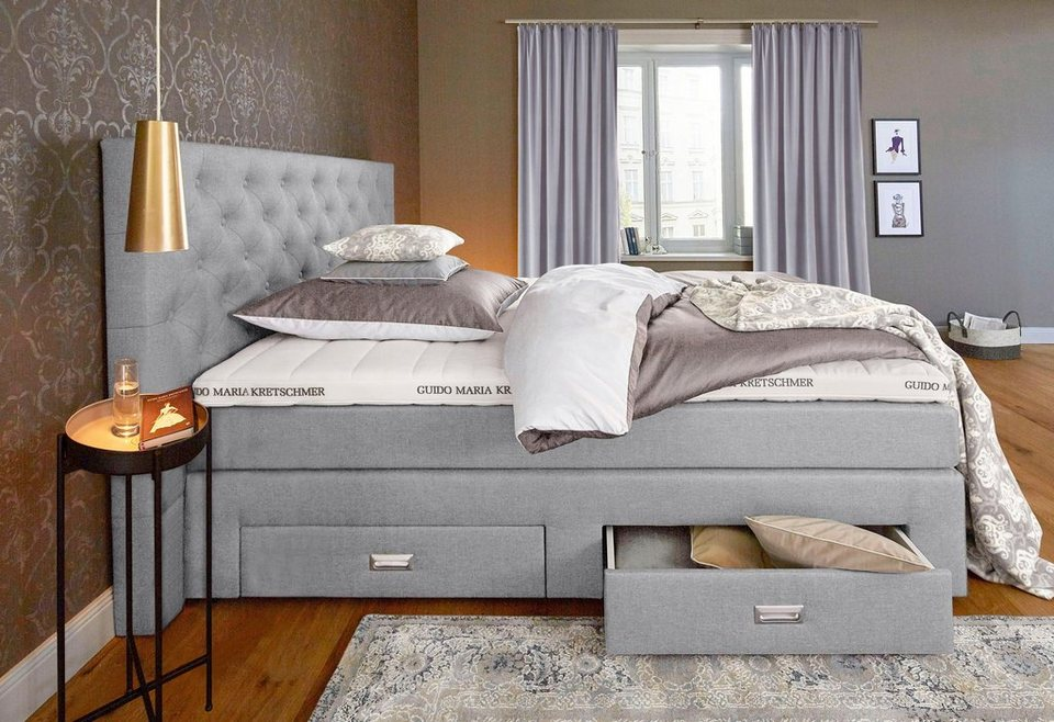 gmk home living boxspringbett aivi mit schubk sten. Black Bedroom Furniture Sets. Home Design Ideas