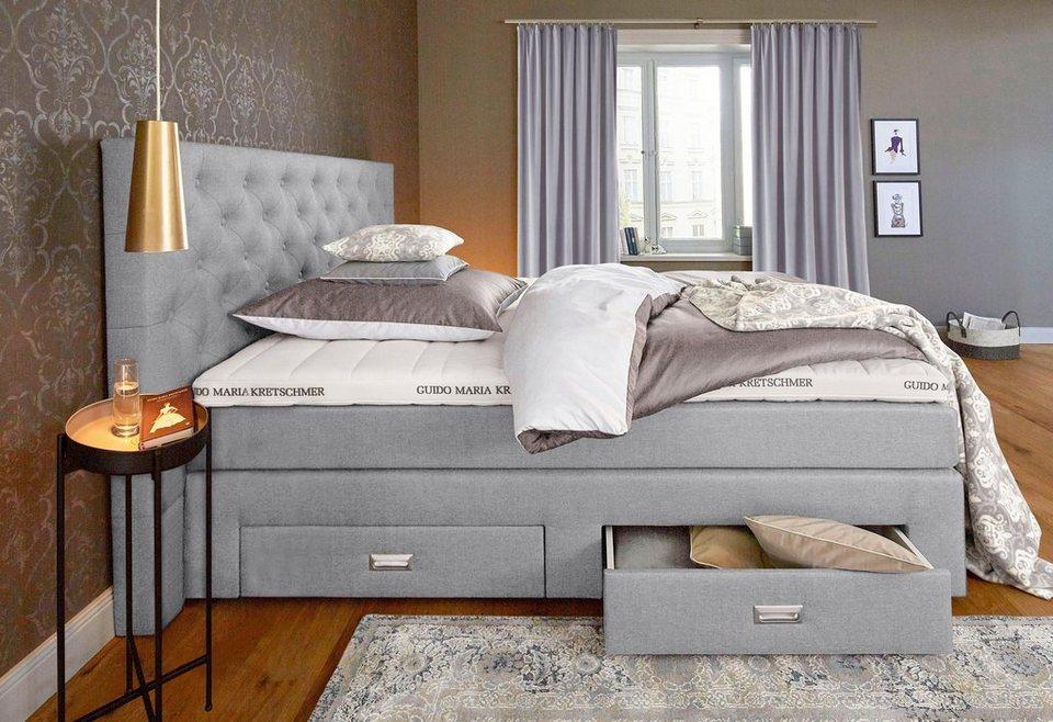 gmk home living boxspringbett aivi mit schubk sten. Black Bedroom Furniture Sets. Home Design Ideas