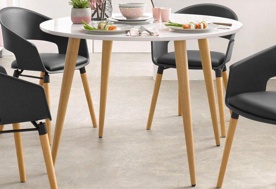 esstisch wei eiche perfect esstisch wei eiche tischplatte tisch weie tischbeine tisch. Black Bedroom Furniture Sets. Home Design Ideas