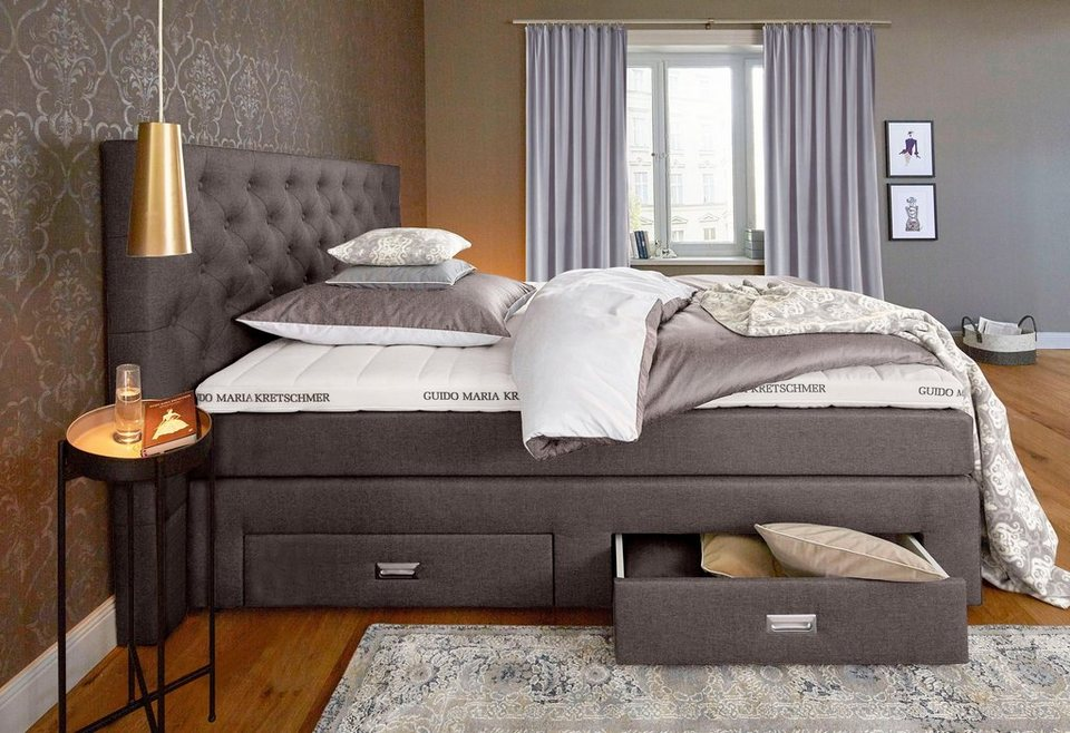 gmk home living boxspringbett aivi mit schubk sten online kaufen otto. Black Bedroom Furniture Sets. Home Design Ideas