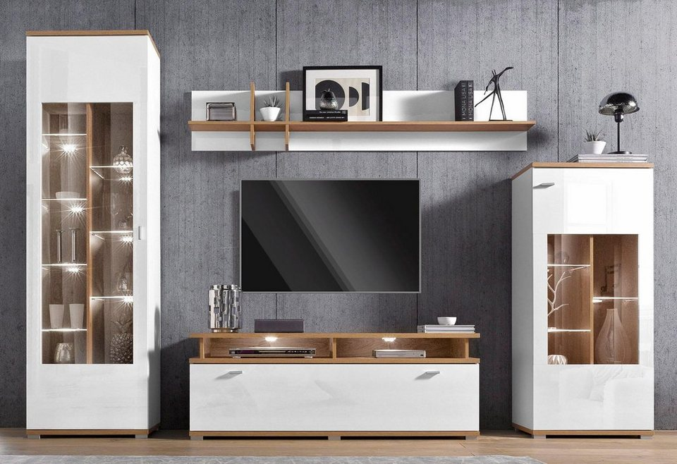 moderne wohnwand online kaufen otto. Black Bedroom Furniture Sets. Home Design Ideas