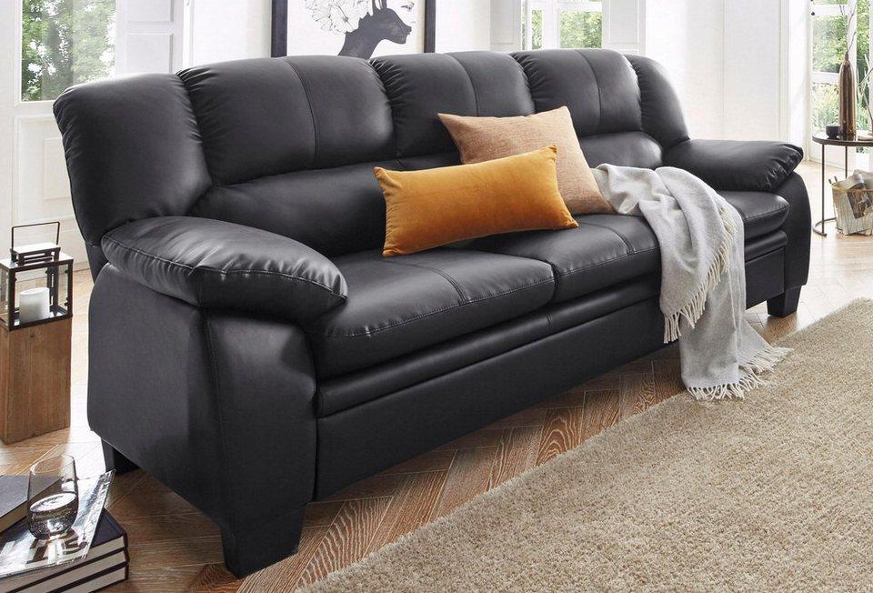 Atlantic Home Collection 3-Sitzer, inklusive Federkern in schwarz