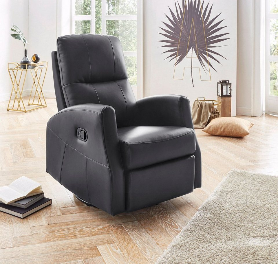 Atlantic Home Collection Relaxsessel, inklusive Federkern in schwarz