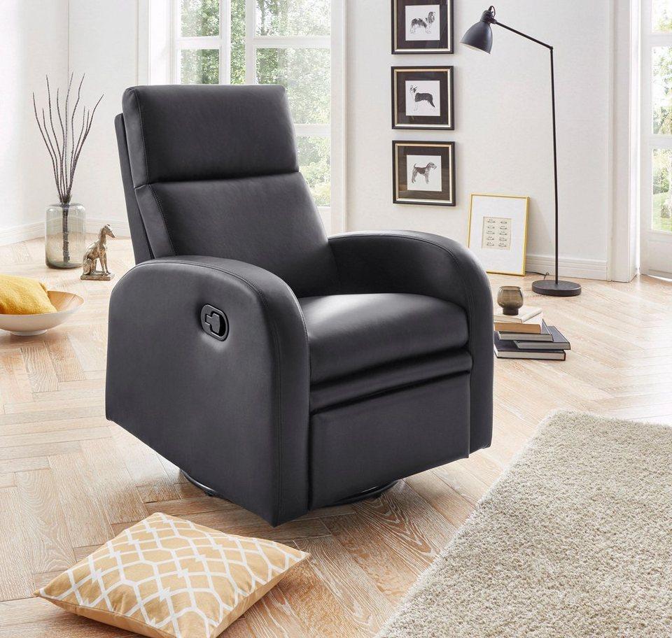 Atlantic Home Collection Relaxsessel, inklusive Federkern in schwarz