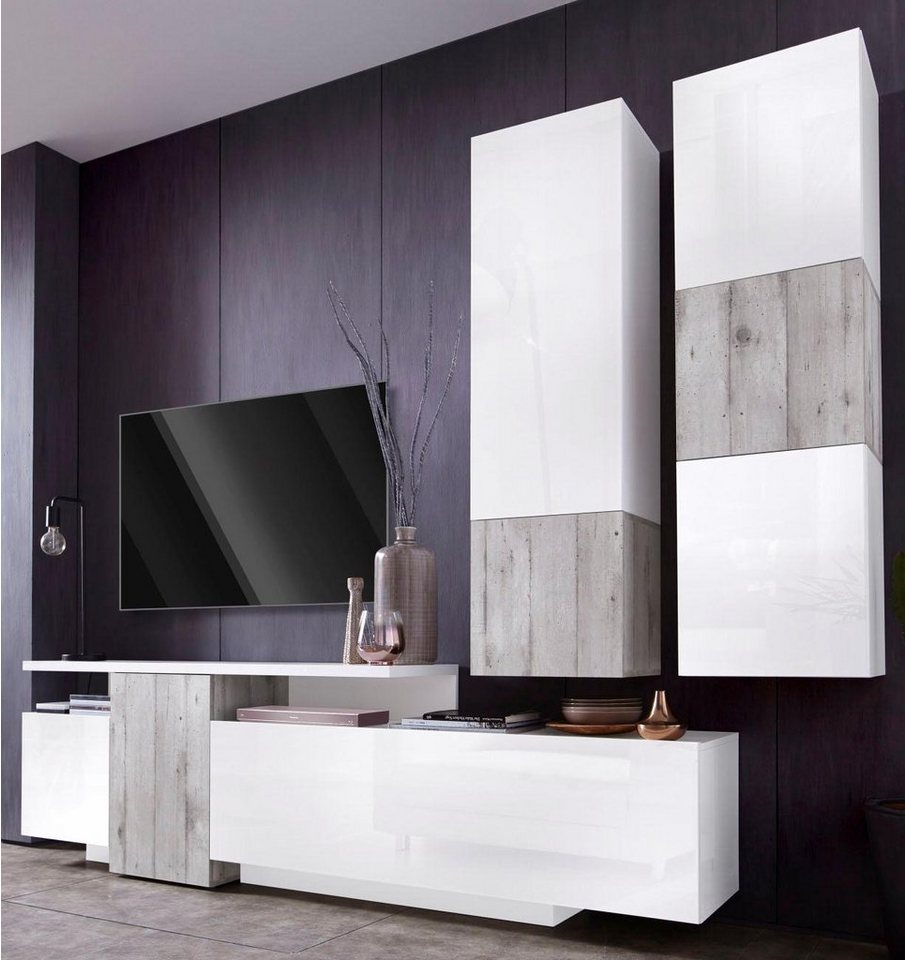 tecnos wohnwand 3 tlg online kaufen otto. Black Bedroom Furniture Sets. Home Design Ideas