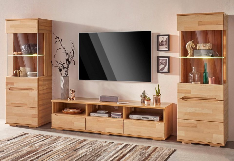 wohnwand 3 tlg online kaufen otto. Black Bedroom Furniture Sets. Home Design Ideas