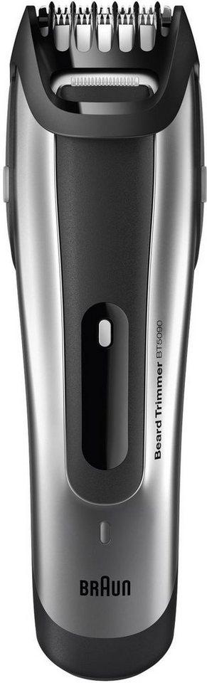 Braun Bartschneider BT5090 , Ultimative Präzision in silber/schwarz