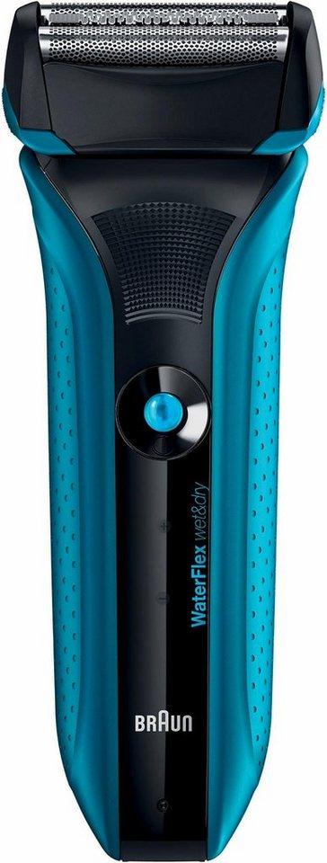 Braun Elektrorasier WaterFlex WF2, Wet&Dry blau in blau