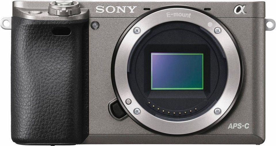 Sony Alpha ILCE-6000 Body System Kamera, 24,3 Megapixel, 7,5 cm (3 Zoll) Display in grau