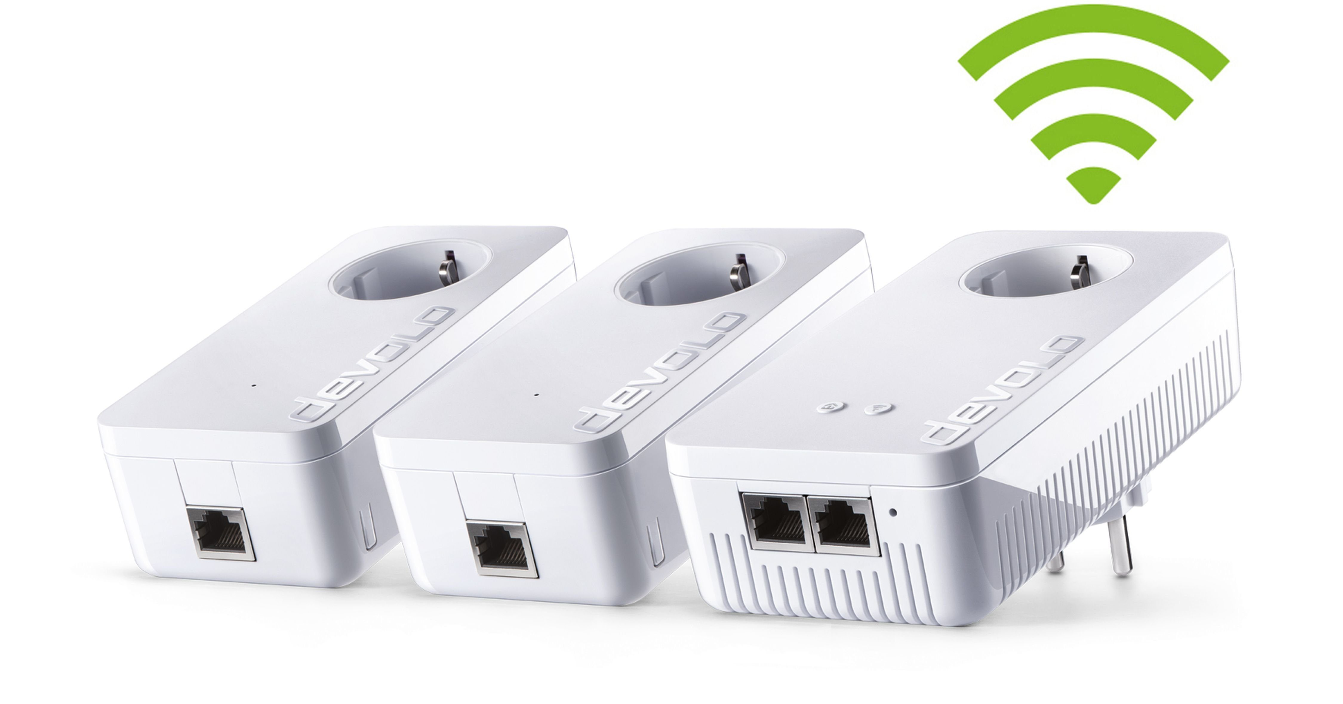 DEVOLO Powerline + WLAN »dLAN Multimedia Power Kit (1200Mbit, Wifi ac)«