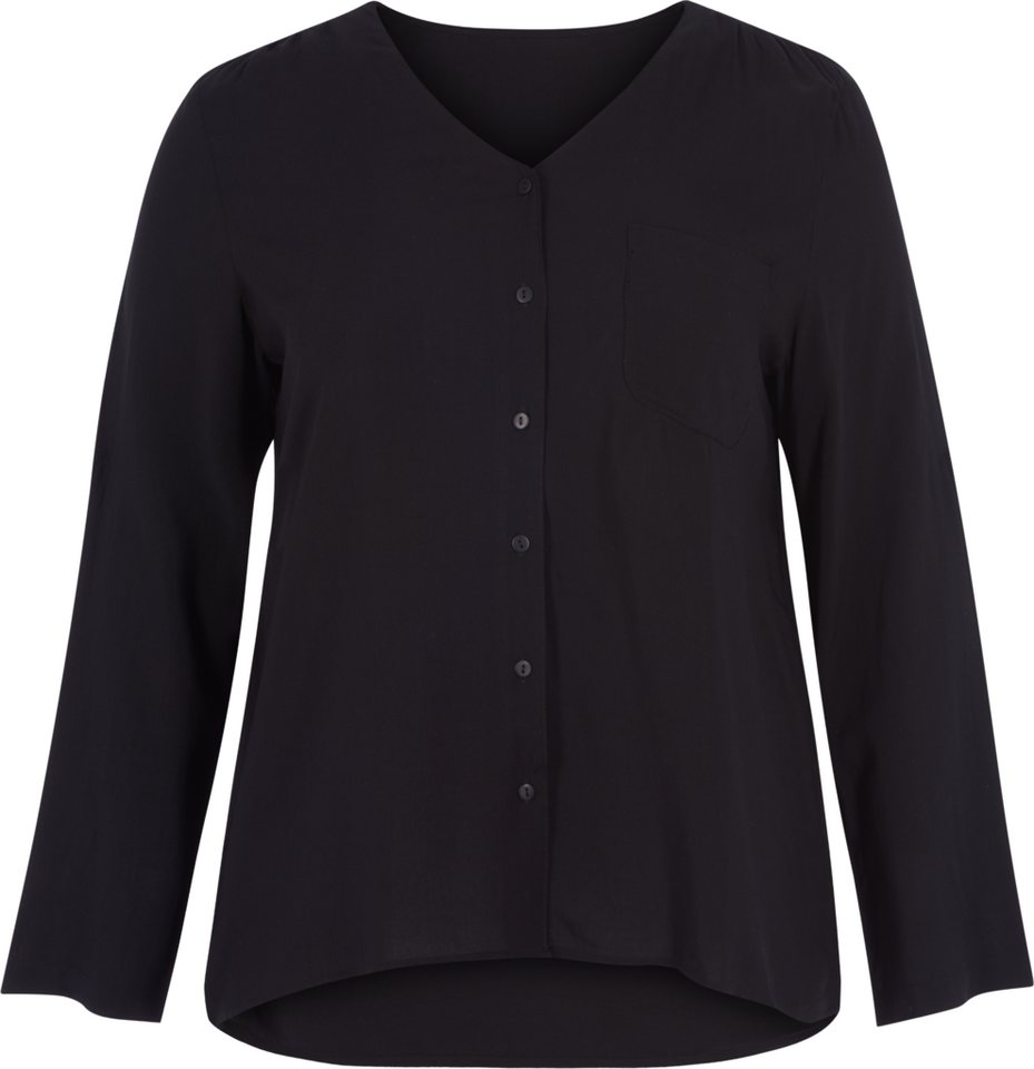 Zizzi Hemd in Solid Black