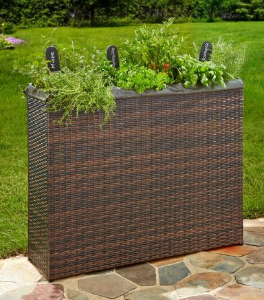 merxx hochbeet bxh 100x80 cm rattangeflechtoptik online kaufen otto. Black Bedroom Furniture Sets. Home Design Ideas