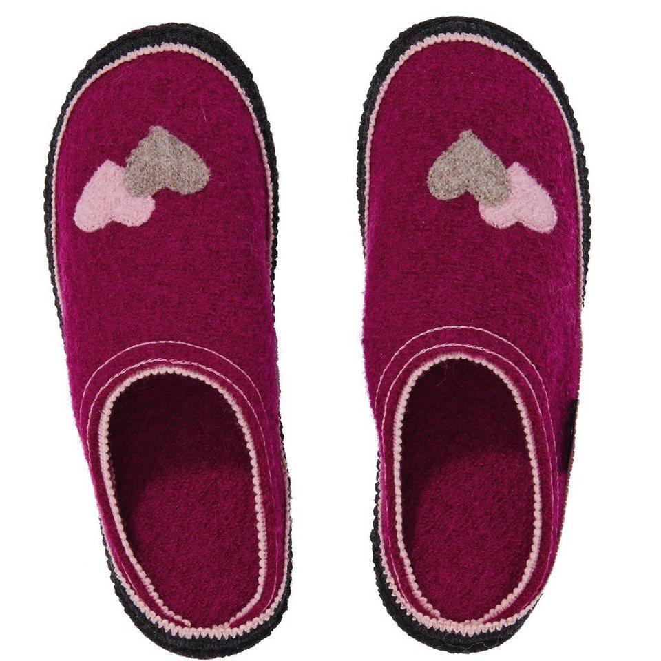 BUTLERS BOUTIQUE »Wollfilz Hausschuh / Größe 37« in pink