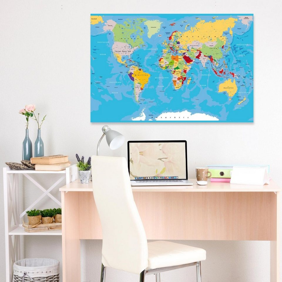 bilderwelten leinwandbild the world 39 s countries otto. Black Bedroom Furniture Sets. Home Design Ideas