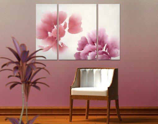 bilderwelten leinwandbild k nstlerische flora ii triptychon ii online kaufen otto. Black Bedroom Furniture Sets. Home Design Ideas