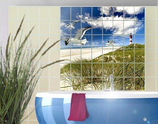 bilderwelten fliesenbild dune breeze kaufen otto On wasserabweisende folie bad