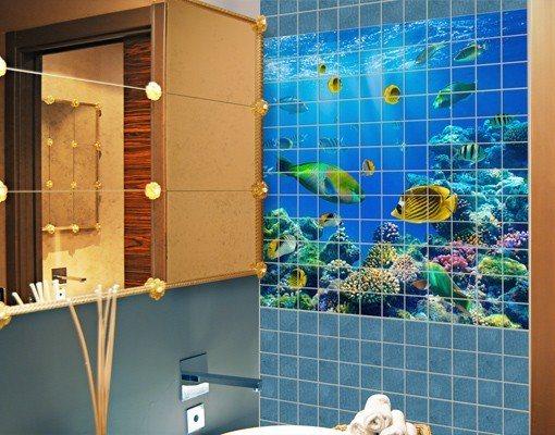 bilderwelten fliesenbild underwater lights otto. Black Bedroom Furniture Sets. Home Design Ideas