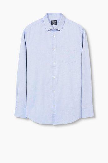 ESPRIT COLLECTION Bügelleichtes Hemd, 100% Baumwolle